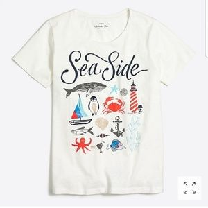 ❣Flash Sale❣J. Crew Factory Sea Life Collector Tee